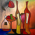 We Can Share - Abstract Wine Art by Fidostudio Poster by Tom Fedro - Fidostudio
