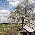 Weathered Hillside Barn Spring Poster by John Stephens
