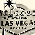 Welcome to Fabulous Las Vegas Nevada Poster by Leslie Leda