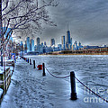 West from Navy Pier Print by David Bearden