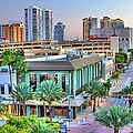 West Palm at Twilight Poster by Debra and Dave Vanderlaan