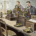 Wheatstone Telegraph System Print by Sheila Terry
