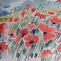 Where Poppies Grow Poster by Barbara McMahon