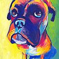 Whimsical Boxer dog Print by Svetlana Novikova
