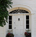 White Entrance Door Poster by Christiane Schulze Art And Photography