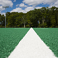 White Line on an Athletic Field Print by sam bloomberg-rissman
