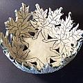 White Maple Leaf Bowl Print by Carolyn Coffey Wallace