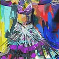 Wild Belly Dancer Print by Barbara Kelley