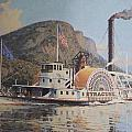 William G Muller Lithograph Towboat Syracuse  Poster by Jake Hartz