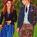 WILLS AND KATE THE ROYAL COUPLE Print by CAROLE SPANDAU