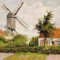 Windmill at Knokke Print by Camille Pissarro