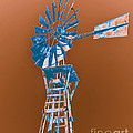 Windmill blue Poster by Rebecca Margraf