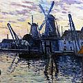Windmills in Holland Poster by Maximilien Luce