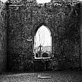 Window at Fuerty Church Roscommon Ireland Print by Teresa Mucha