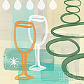 Wine For Two Poster by Linda Woods