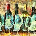 Wine on the Town Print by Marilyn Sholin