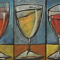 wine trio - option one Print by Tim Nyberg