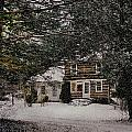 Winter Cottage Poster by Gordon Beck
