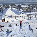 Winter Fun Poster by Andrew Macara