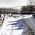 Winter Lane sowood Print by Paul Dene Marlor