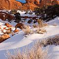 Winter Morning at Arches National Park Poster by Utah Images