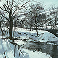 Winter River Poster by John Cooke