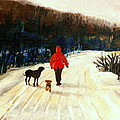 WINTER ROAD QUEBEC LAURENTIAN LANDSCAPE Print by CAROLE SPANDAU