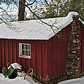 Winter Shed Print by Susan Leggett