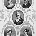 WIVES OF FOUNDING FATHERS Print by Granger