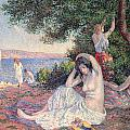 Women Bathing Print by Maximilien Luce