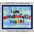 Wonderfully Made Poster by Judy Dodds
