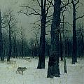 Wood in Winter Poster by Isaak Ilyic Levitan