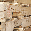 Wood Pallets Print by Shannon Fagan