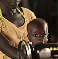 Working Mother And Child, Uganda Print by Mauro Fermariello