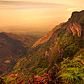 Worlds End. Horton Plains National Park. Sri Lanka Print by Jenny Rainbow