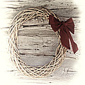 Woven Reed Wreath Poster by Linda Phelps