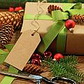 Wrapping gifts for the holidays Poster by Sandra Cunningham
