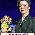 WW2 US Cadet Nurse Corps Poster by War Is Hell Store