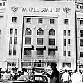 Yankee Stadium, Fans Arrive To Watch Print by Everett
