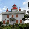 Yaquina Lighthouses - Yaquina Bay Lighthouse Oregon Print by Christine Till