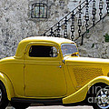 Yellow Coupe Hardtop Poster by Jerry L Barrett
