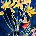 Yellow Daylilies Print by Arline Wagner
