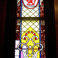 Yellow Stained Glass Window Poster by Thomas Woolworth