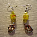 Yellow Swirl Follow Your Heart Earrings Poster by Jenna Green