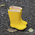 Yellow Wellies Print by Louise Heusinkveld