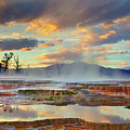 Yellowstone National Park-mammoth Hot Springs Print by Kevin McNeal
