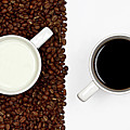 Yin And Yang Coffee And Milk Print by Gert Lavsen Photography