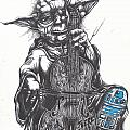 Yoda Soothes Baby R2 With the Charm of His Homegrown Cello Poster by Iosua Tai Taeoalii