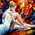 young ballerina by Leonid Afremov