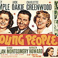 Young People, Shirley Temple, Jack Poster by Everett